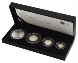2010 Silver Proof Britannia 4 Coin Set for sale